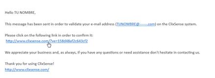 verificar correo clixsense